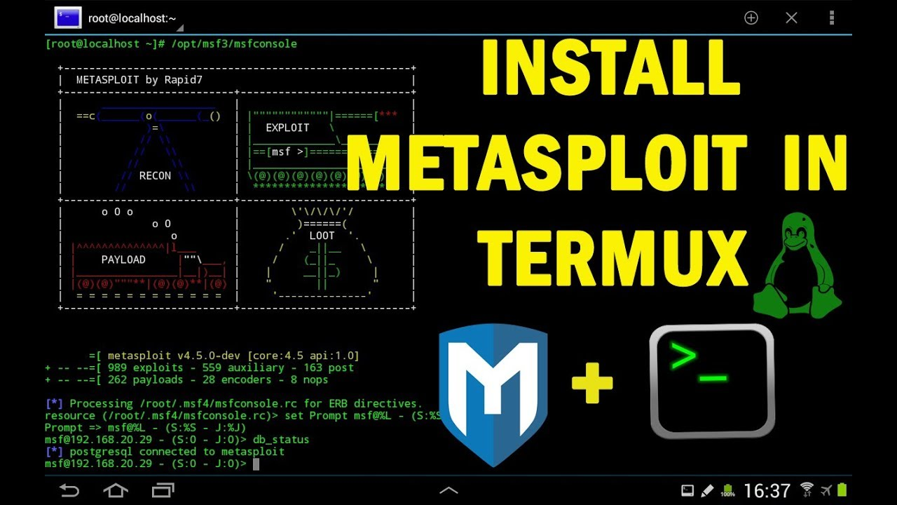 How to install metasploit in android and start Hacking without root phone