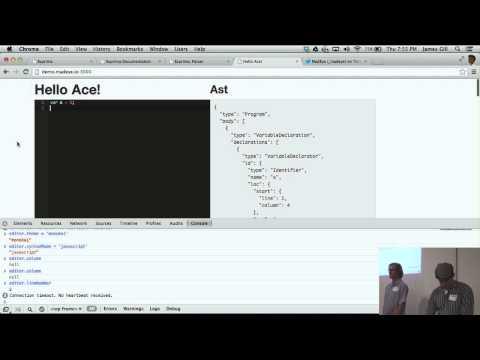James Gill & Mike Risse: A Reactive Ace Editor - Devshop 3 Lightning Talk