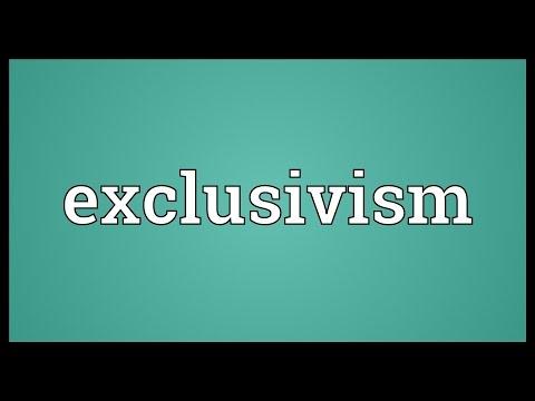 Header of exclusivism