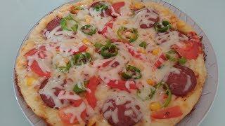 Beş Dakikada Tavada Pizza Tarifi