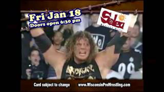 Wisconsin Pro Wrestling: Aerial Warfare!  Fri Jan 18!  RAVEN!