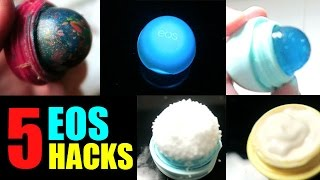 DIY 5 FUN EOS LIP BALM DIY HACKS!