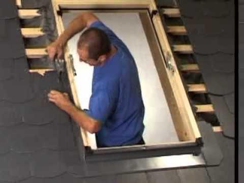Dachfenstereinbau Schiefereindeckrahmen Befestigen Youtube