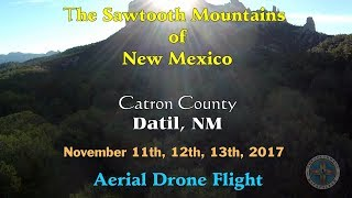 Aerial Drone Flight Over The Sawtooth Mountains of New Mexico