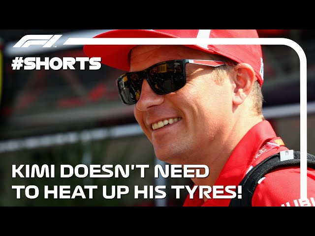 Kimi Doesn't Need Heat In His Tyres! F1 #Shorts