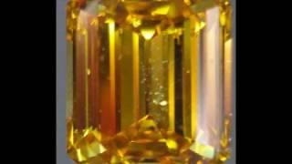 Fancy Deep Orange Yellow Emerald Cut Diamond- AMAZING COLOR