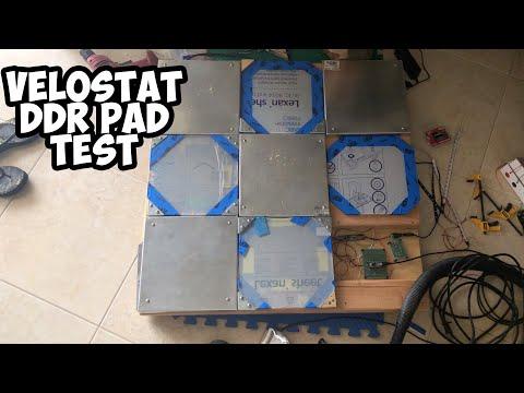 DIY Velostat DDR Pad Test -  ΔMAX
