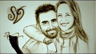 DISEGNI CON LA SABBIA | Matrimonio Denise & Simone | SAND ART