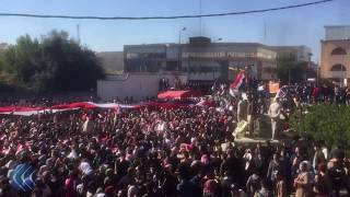 تصاعد حدة التظاهرات في مدن العراق وحشود ضخمة تجوب الشوارع