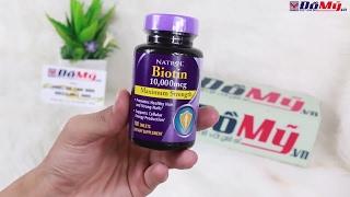 Viên Uống Mọc Tóc Biotin Natrol - Phân Biệt Hàng Thật Giả - Đồ Mỹ .vn - Domy.vn