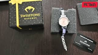 Product Review SWISSTONE Women's watch pink Dial