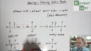 Esters - Drawing Structural Formulae and Naming Practice