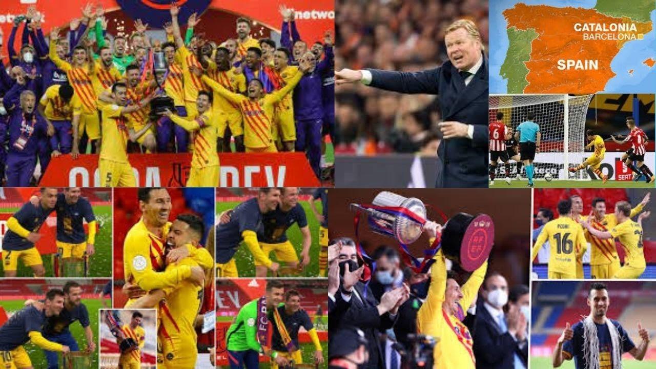 Messi nets 2 as Barcelona beat Bilbao 4-0 to win Copa del Rey