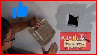 Como reparar agujeros en los paneles de yeso - Draywall repair