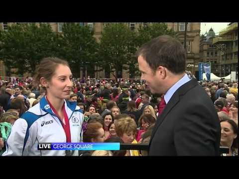 STV News at Six - Live at the Team Scotland Parade