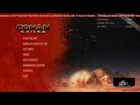 Conan Exiles..!! DoE khổ lắm rồi :((....!! Từ lúc xây nhà ko ai thèm raid chứ...!!