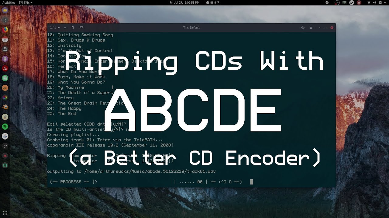Ripping Cds With Abcde Youtube