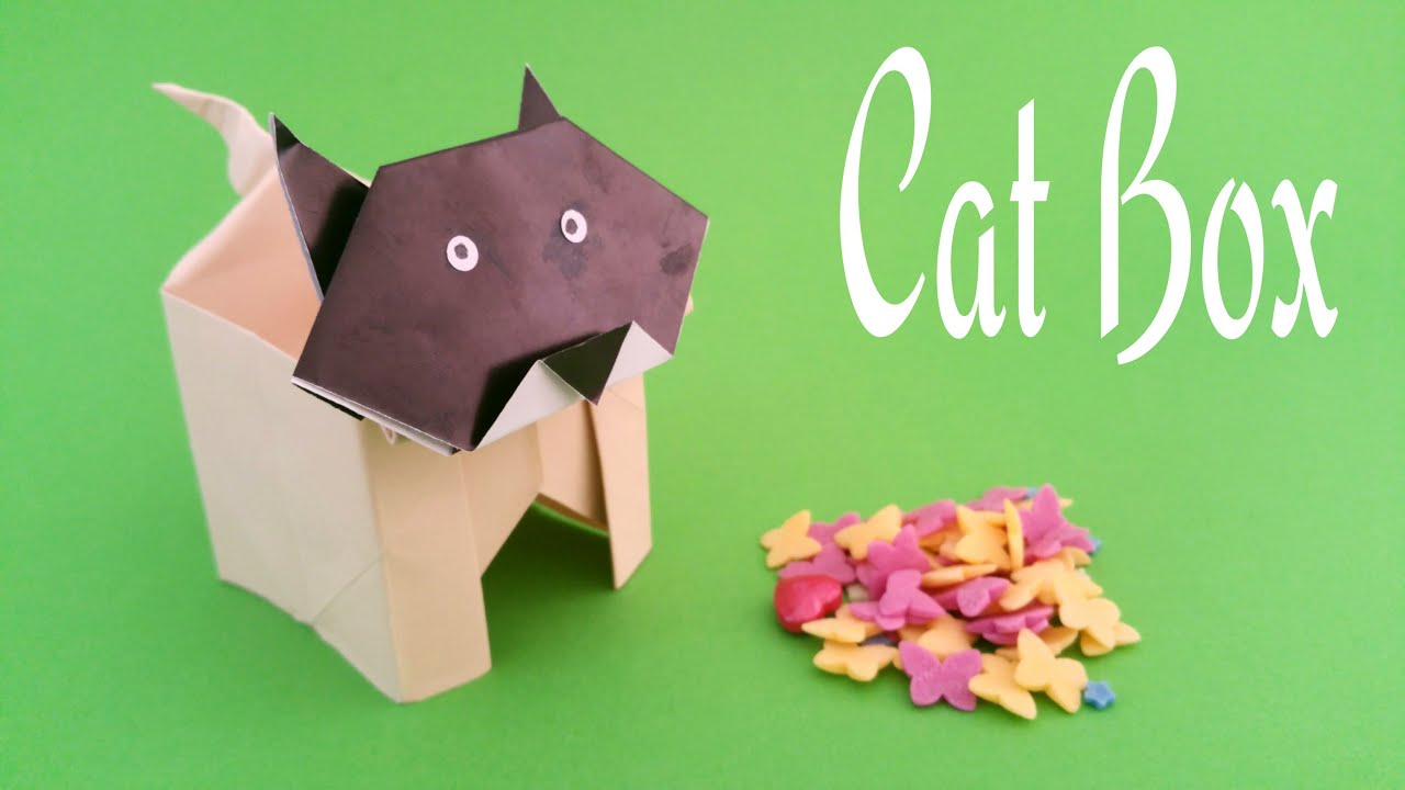 How To Make A Paper Cat Box