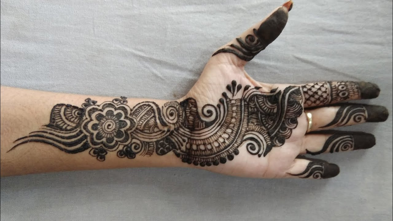 Indo Arabic Mehendi Design Latest Stylish Arabic Mehndi Design For Hand 17