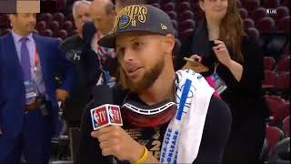 Stephen Curry joins Charles Barkley after winning the NBA Championship 2018