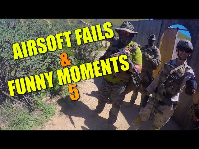 AIRSOFT FAILS AND FUNNY MOMENTS 5 😂