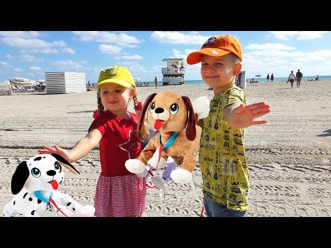 VLOG Рома и Диана с собачками PEPPY PETS летят в Америку Видео для Детей video for kids