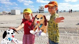 VLOG Рома и Диана с собачками PEPPY PETS летят в Америку Видео для Детей
