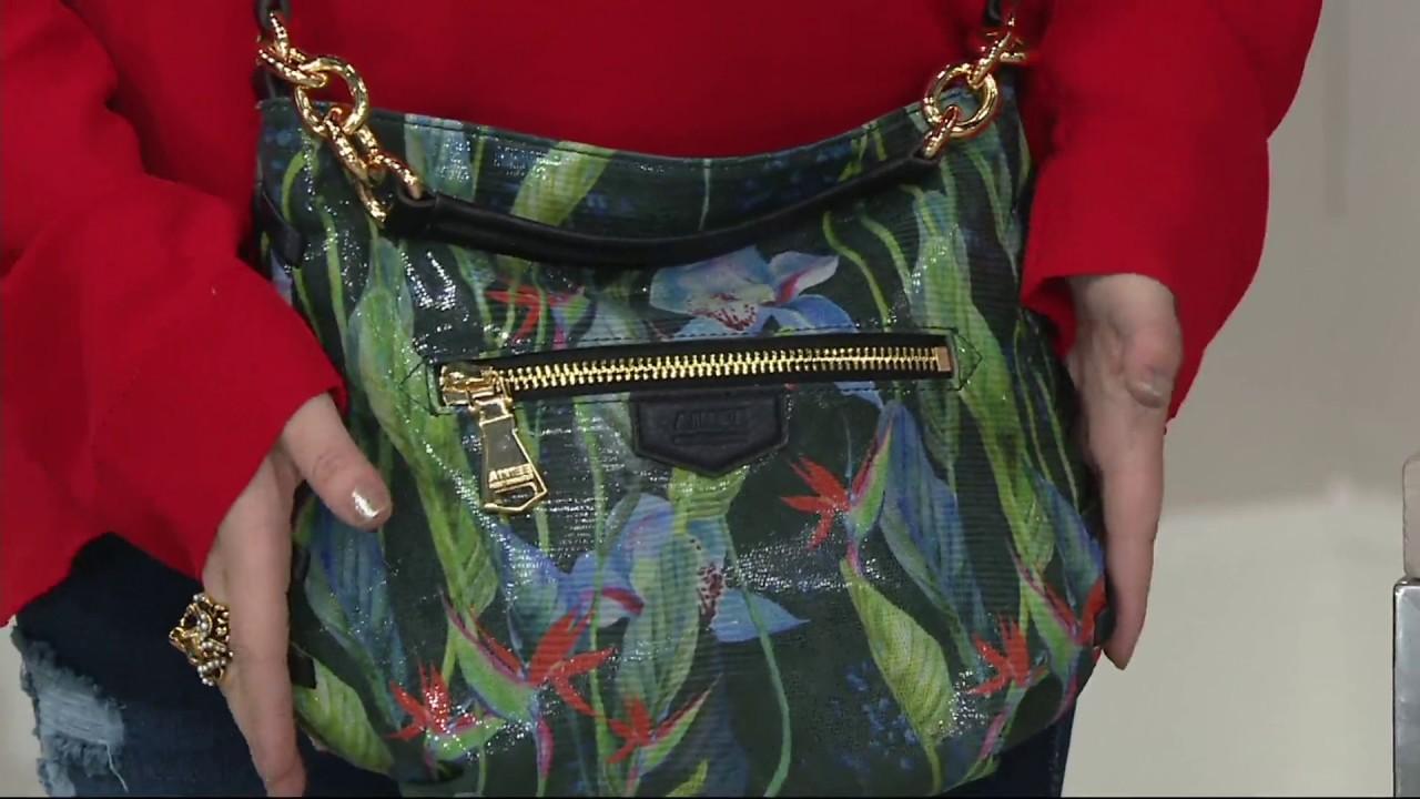 3bfc49d76 Aimee Kestenberg Leather Convertible Crossbody- Onyx on QVC - YouTube