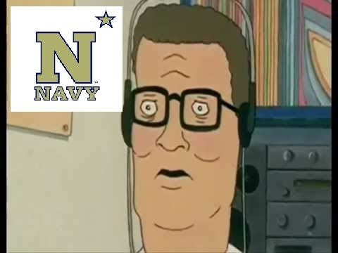 Hank Hill Listens to The Navy Fight Song