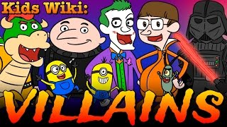 Villains + Superheroes + Super Powers + Minions & Spiderman! | Wiki For Kids At Cool School
