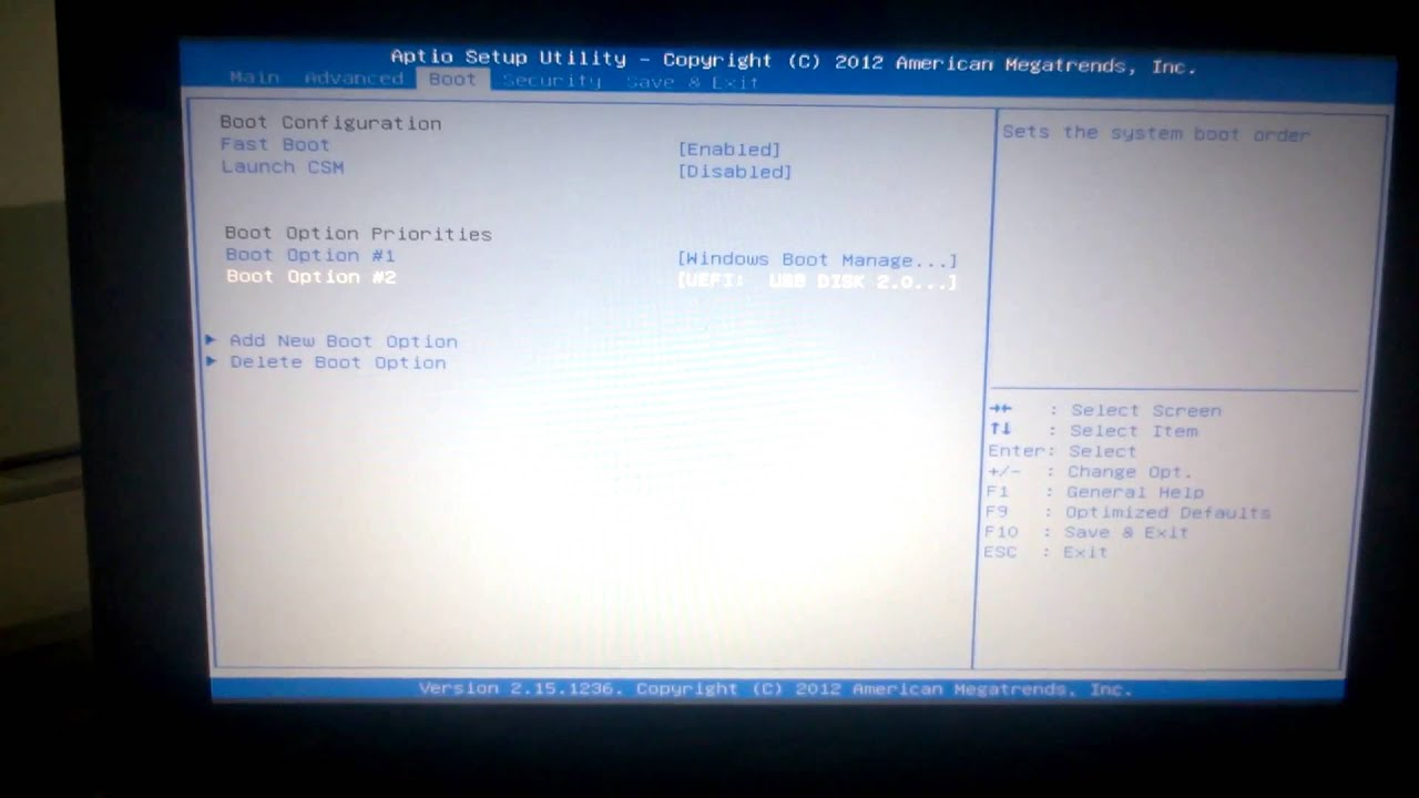 Asus X54HR Notebook Fast Boot Windows 8 X64