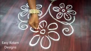 easy kolam designs for diwali | easy kolam designs | easy rangoli, easy free hand rangoli designs
