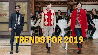TRENDS FOR 2019 | Menswear and Street Style Trends for 2019