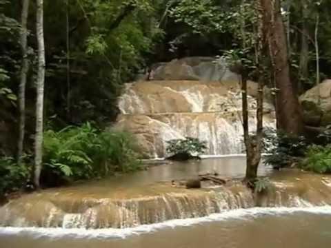 Srisungwan Waterfall at Chiang Dao - Chiang Mai   Thailand