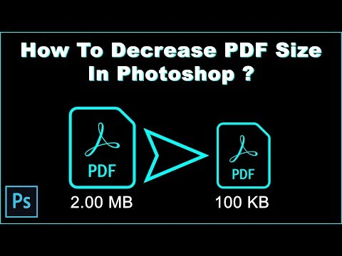 How To Decrease PDF Size In PhotoShop - (Hindi)
