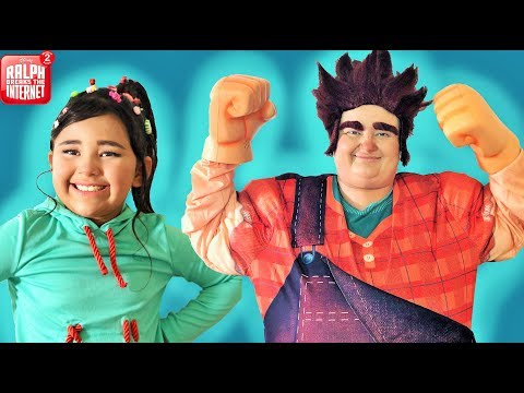 Makeup and Costumes Wreck it Ralph 2  Part 1