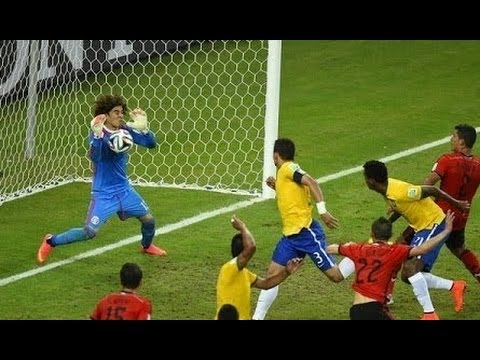 Guillermo Ochoa Saves VS Brazil -  World Cup 2014 HD