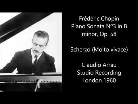 Claudio Arrau plays Chopin Piano Sonata Nº3 in B minor 1960