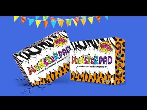 Планшет MonsterPad зебра