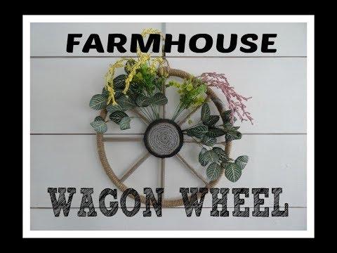 Dollar Tree Craft With Me! Farmhouse Wagon Wheel