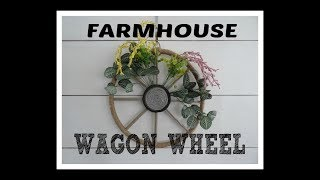 Dollar Tree Create With Me! Farmhouse Wagon Wheel