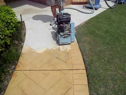 How To Remove Stamped Or Patterned Concrete Prepare For A New Covering Avi