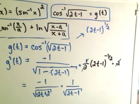 integral of inverse trig functions pdf