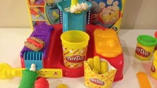 PLAY-DOH Fun Food Movie Snacks  & Candy Playset Toys Video Unboxing