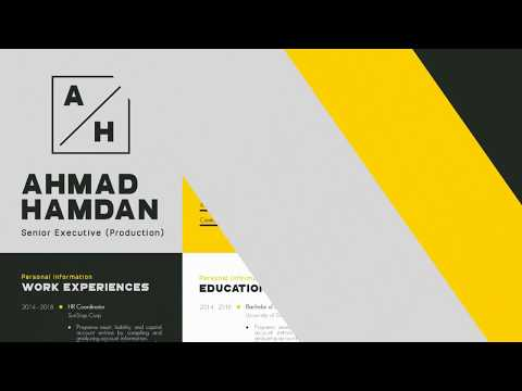 How To Make Modern Resume For Job In 10 Minutes   Resume Template Design Tutorial