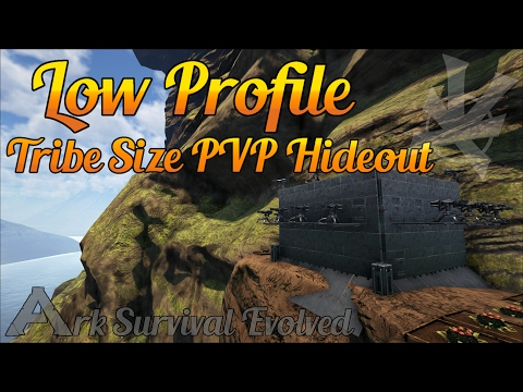 Low Profile Cliff Tribe PVP Base! | Build Guide | The Center | Ark: Survival Evolved