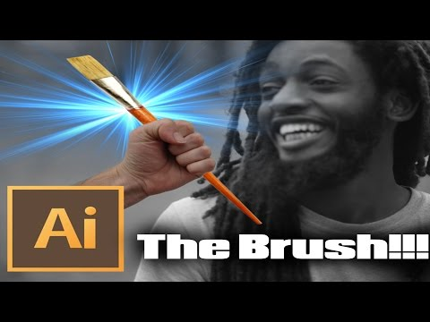 Adobe Illustrator Tutorial: THE ONE AND ONLY BRUSH I USE!!!