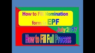 How to fill Nomination form in PF