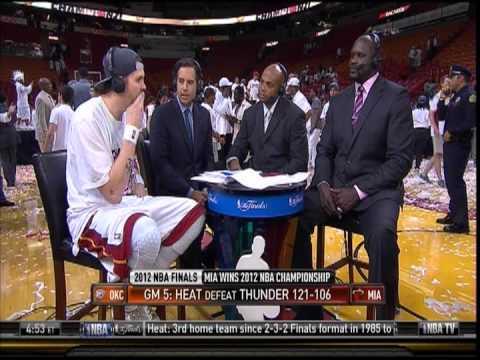 June 21, 2012- NBATV-2012 NBA Finals Miami Heat Championship Mike Miller Post Game Interview(Vs OKC)