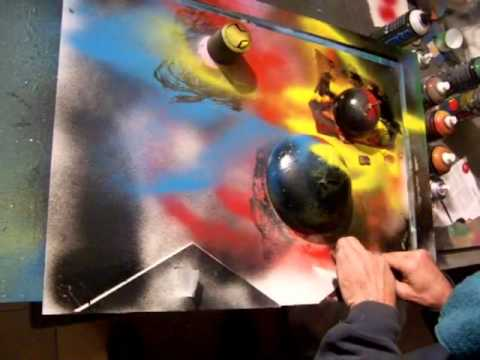 jma spray painting art cuadro pintado a ciegas 5
